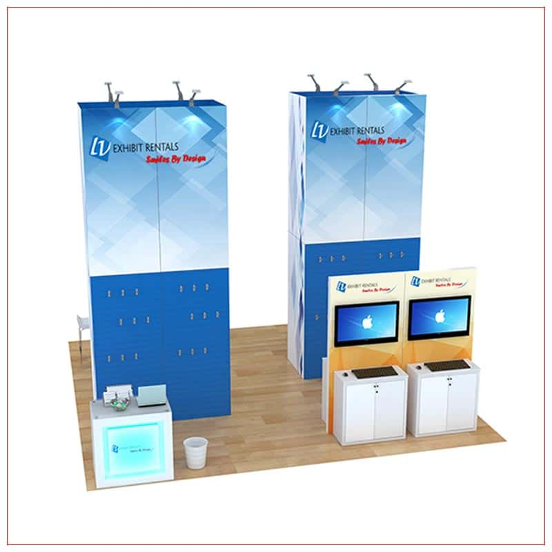 20x20 Trade Show Booth Rental Package 812 - Front View - LV Exhibit Rentals in Las Vegas