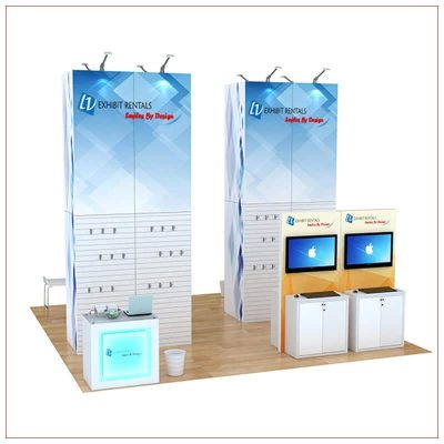 20x20 Trade Show Booth Rental Package 812 - LV Exhibit Rentals in Las Vegas