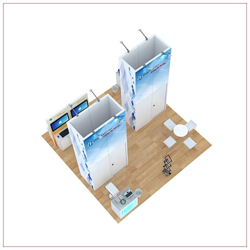 20x20 Trade Show Booth Rental Package 812 - Top-Down View - LV Exhibit Rentals in Las Vegas