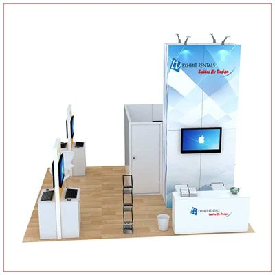20x20 Trade Show Booth Rental Package 813 - Side View - LV Exhibit Rentals in Las Vegas