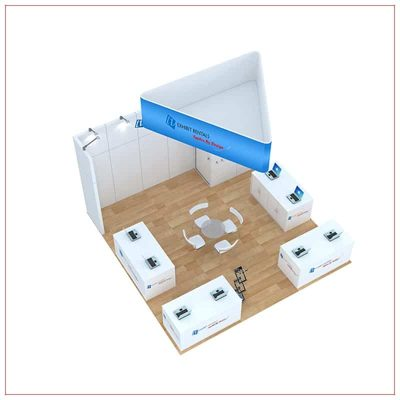 20x20 Trade Show Booth Rental Package 814 - Top-Down View - LV Exhibit Rentals in Las Vegas