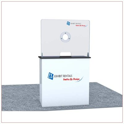Covid 19 Prevention Counter Rental Package CV02 - LV Exhibit Rentals in Las Vegas