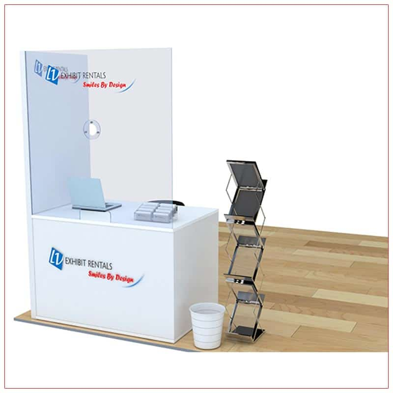 Covid 19 Prevention Counter Rental Package CV03 - Front Angle View - LV Exhibit Rentals in Las Vegas